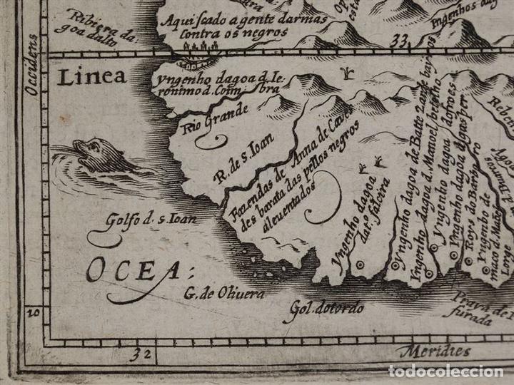 Arte: Mapa de la Isla de Santo Tomé (África), 1616. Bertius/Hondius - Foto 6 - 108848375
