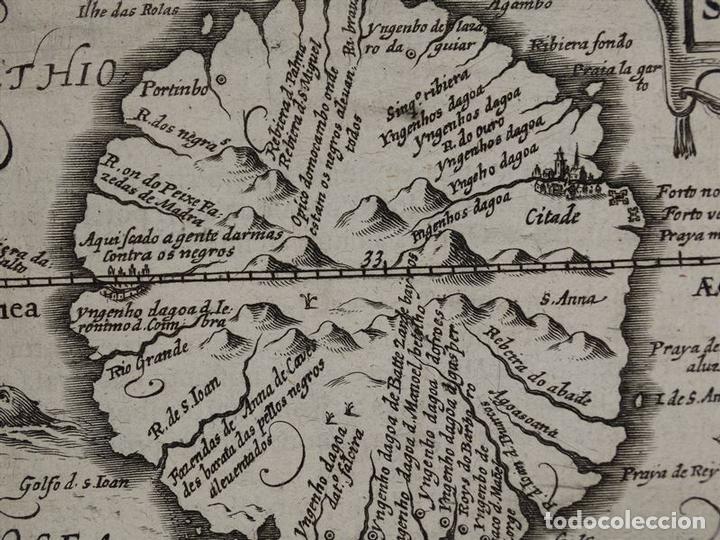 Arte: Mapa de la Isla de Santo Tomé (África), 1616. Bertius/Hondius - Foto 7 - 108848375