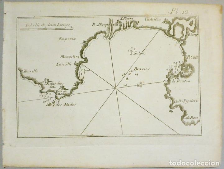 MAPA DEL GOLFO DE ROSAS EN GIRONA ÑCATALUÑA (ESPAÑA),18004. JOSEPH ROUX (Arte - Cartografía Antigua (hasta S. XIX))