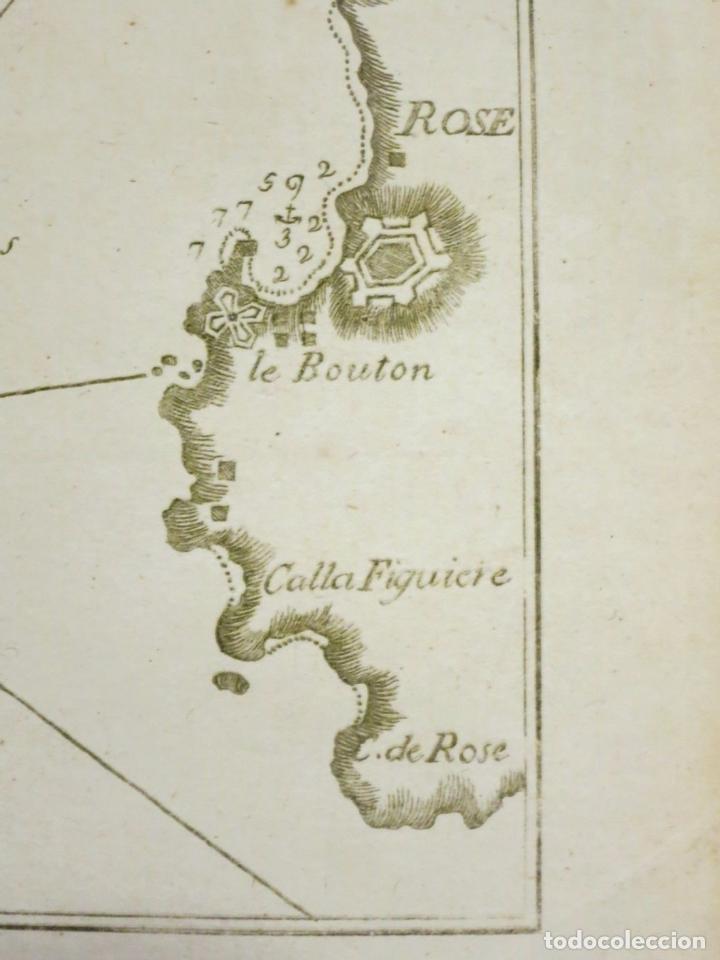 Arte: Mapa del Golfo de Rosas en Girona ñCataluña (España),18004. Joseph Roux - Foto 2 - 108923263