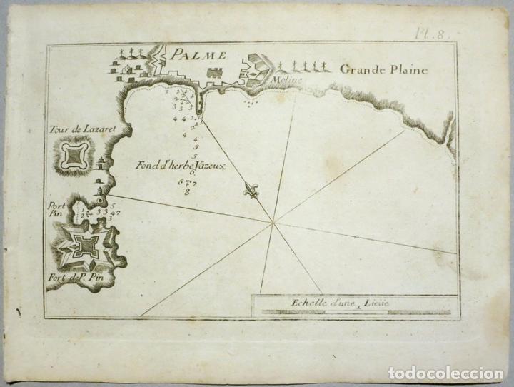 MAPA DE LA BAHÍA DE PALMA DE MALLORCA, ISLAS BALEARES (ESPAÑA), 1804. JOSEPH ROUX (Arte - Cartografía Antigua (hasta S. XIX))