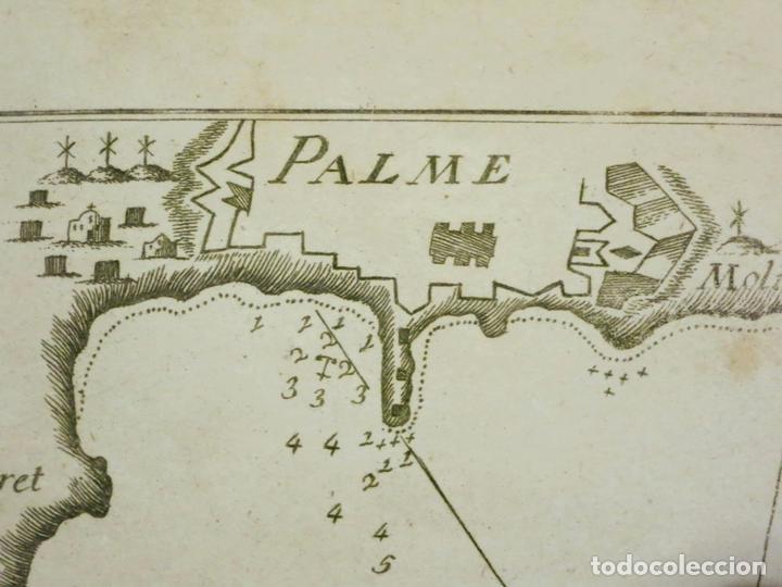 Arte: Mapa de la Bahía de Palma de Mallorca, islas Baleares (España), 1804. Joseph Roux - Foto 2 - 108923495
