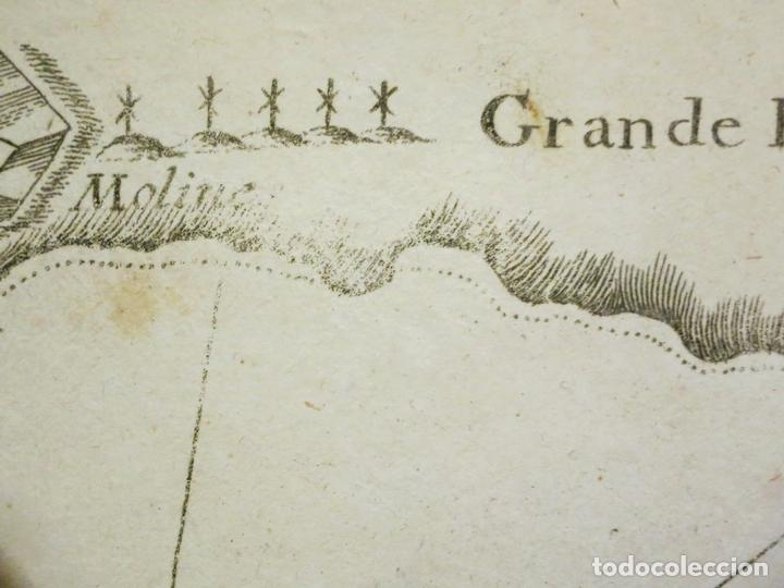Arte: Mapa de la Bahía de Palma de Mallorca, islas Baleares (España), 1804. Joseph Roux - Foto 3 - 108923495