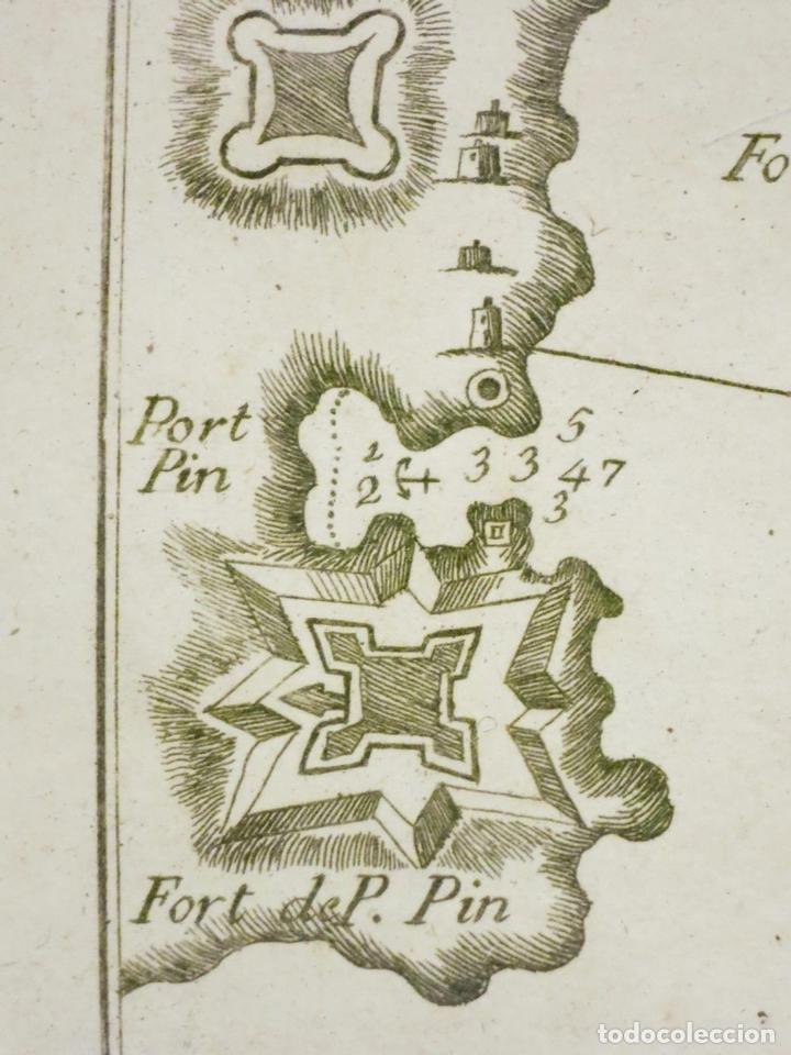 Arte: Mapa de la Bahía de Palma de Mallorca, islas Baleares (España), 1804. Joseph Roux - Foto 4 - 108923495