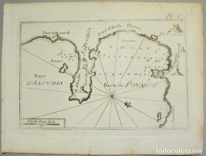 MAPA DE LAS BAHÍAS DE ALCUDIA Y POLLENCA (MALLORCA, BALEARES), 1804. JOSEPH ROUX (Arte - Cartografía Antigua (hasta S. XIX))