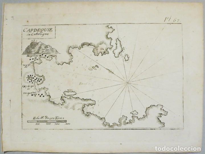 MAPA DE LA BAHÍA DE CADAQUÉS ( CATALUÑA, COSTA BRAVA), 1804. JOSEPH ROUX (Arte - Cartografía Antigua (hasta S. XIX))