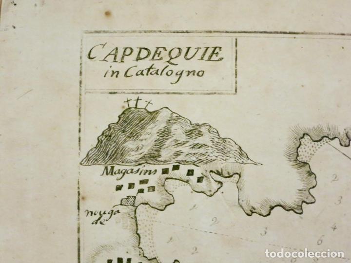 Arte: Mapa de la bahía de Cadaqués ( Cataluña, Costa Brava), 1804. Joseph Roux - Foto 2 - 108923867