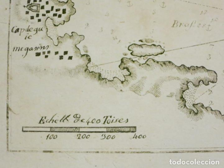 Arte: Mapa de la bahía de Cadaqués ( Cataluña, Costa Brava), 1804. Joseph Roux - Foto 3 - 108923867