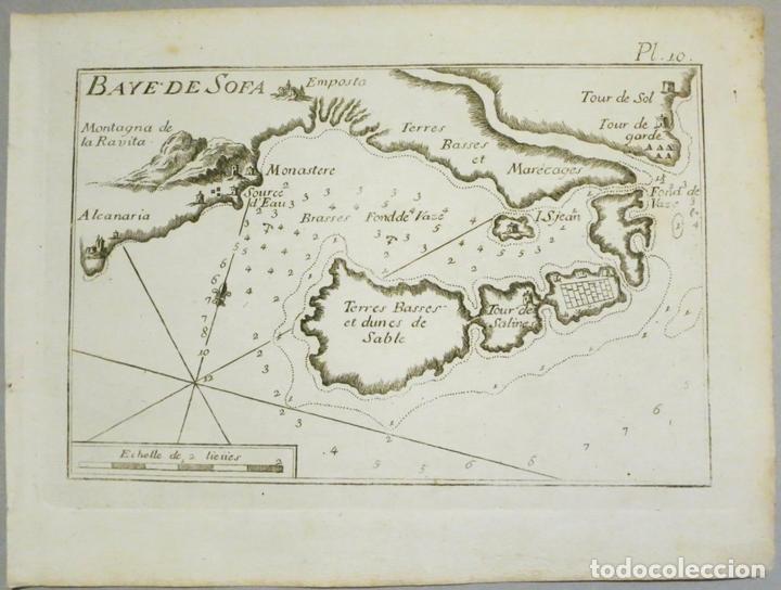 MAPA DE LA BAHÍA DE SOFA (CATALUÑA, ESPAÑA), 1804. JOSEPH ROUX (Arte - Cartografía Antigua (hasta S. XIX))