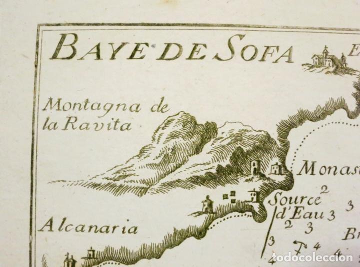 Arte: Mapa de la bahía de Sofa (Cataluña, España), 1804. Joseph Roux - Foto 2 - 108924335