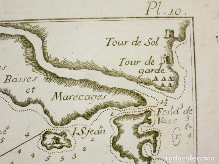 Arte: Mapa de la bahía de Sofa (Cataluña, España), 1804. Joseph Roux - Foto 3 - 108924335