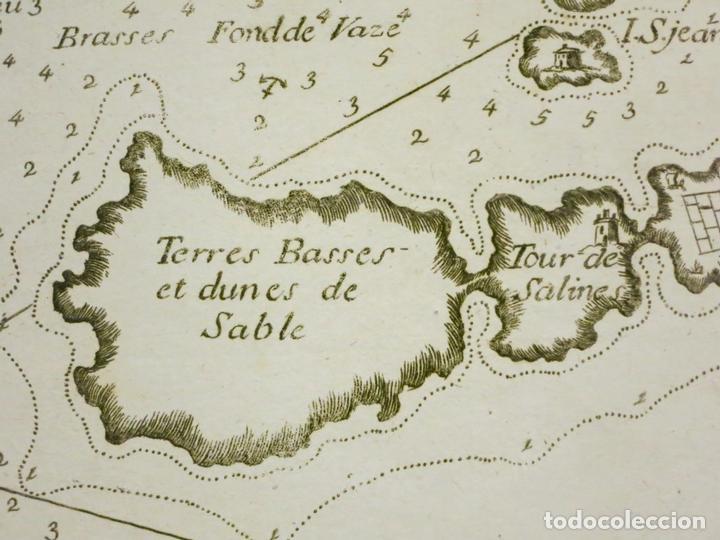 Arte: Mapa de la bahía de Sofa (Cataluña, España), 1804. Joseph Roux - Foto 4 - 108924335