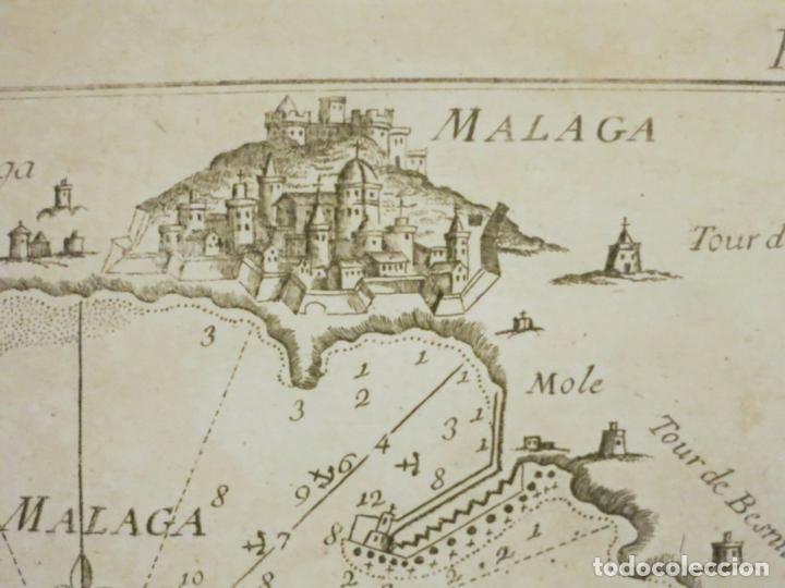 Arte: Mapa del puerto y bahía de Málaga (España), 1804. Joseph Roux - Foto 3 - 108924603