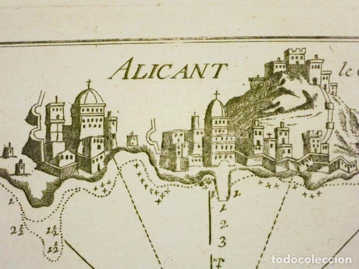BAHÍA DE ALICANTE (ESPAÑA), 1804. JOSEPH ROUX (Arte - Cartografía Antigua (hasta S. XIX))