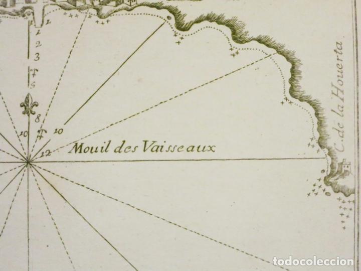 Arte: Bahía de Alicante (España), 1804. Joseph Roux - Foto 4 - 108924727