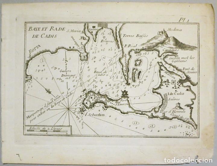 MAPA DEL PUERTO Y LA BAHÍA DE CÁDIZ (ESPAÑA), 1804.JOSEPH ROUX (Arte - Cartografía Antigua (hasta S. XIX))