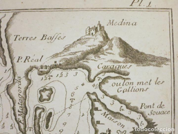 Arte: Mapa del puerto y la bahía de Cádiz (España), 1804.Joseph Roux - Foto 4 - 108924895
