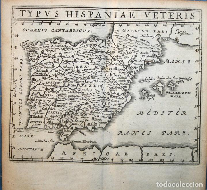MAPA DE ESPAÑA Y PORTUGAL ANTIGUOS, 1661. CLÜVER/ BERTIUS (Arte - Cartografía Antigua (hasta S. XIX))