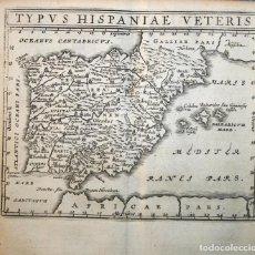 Arte: MAPA DE ESPAÑA Y PORTUGAL ANTIGUOS, 1661. CLÜVER/ BERTIUS. Lote 108925203