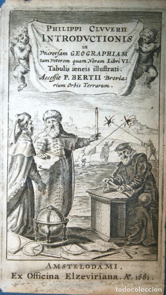 FRONTISPICIO DEL ATLAS IN UNIVERSAM GEOGRAPHIAM...1661. CLUVER/BERTIUS (Arte - Cartografía Antigua (hasta S. XIX))