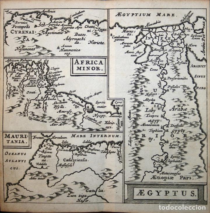 MAPA DE EGIPTO, MARRUECOS, TÚNEZ Y LIBIA (ÁFRICA), 1661. CLÜVER/BERTIUS (Arte - Cartografía Antigua (hasta S. XIX))