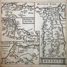 Arte: MAPA DE EGIPTO, MARRUECOS, TÚNEZ Y LIBIA (ÁFRICA), 1661. CLÜVER/BERTIUS. Lote 108925463