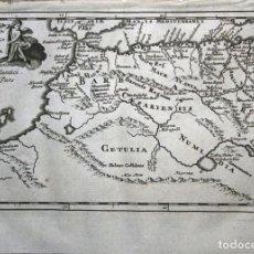 Arte: MAPA DEL NORTOESTE DE ÁFRICA, 1711. BUNONE/CLÜVER. Lote 108925739