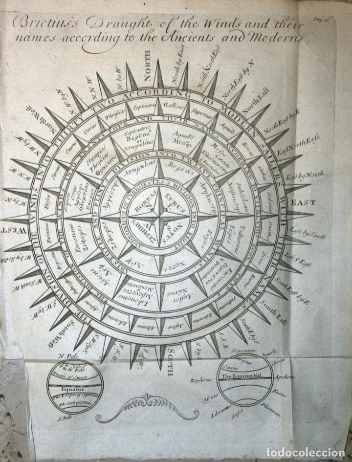 ROSA DE LOS VIENTOS, 1711. BUNONE/ CLÜVER (Arte - Cartografía Antigua (hasta S. XIX))