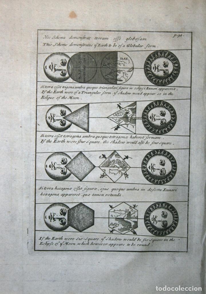FORMA GLOBULAR DE LA TIERRA, EL SOL Y LA LUNA, 1711. BUNONE/CLÜVER (Arte - Cartografía Antigua (hasta S. XIX))
