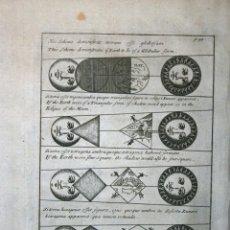 Arte: FORMA GLOBULAR DE LA TIERRA, EL SOL Y LA LUNA, 1711. BUNONE/CLÜVER. Lote 108925895