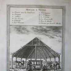 Arte: MOLINO DE CAÑA DE AZÚCAR EN EL CARIBE ( AMÉRICA), 1746. BELLIN. Lote 109210303