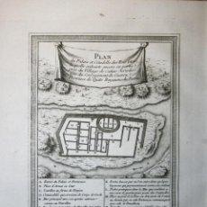 Arte: PLANO DE LA CIUDAD INCA DE INGAPIRCA (ECUADOR), 1746. BELLIN. Lote 109210783