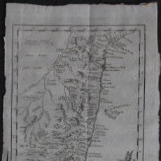 Arte: MAPA LITORAL DESDE SAO PAULO A SALVADOR DA BAHIA(BRASIL),1785. BELLIN. Lote 109211599