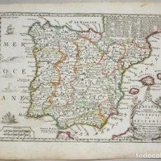 Arte: MAPA DE ESPAÑA Y PORTUGAL, 1719. CHIQUET. Lote 109212791