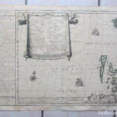 Arte: MAPA DESCRIPTION ISLES BRITANIQUES SIGLO XVII HACE REFERENCIA COLONIA NEW YORK. Lote 109331615