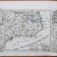 Arte: MAPA DE CATALUÑA (ESPAÑA), 1720. BODENEHR. Lote 109351503