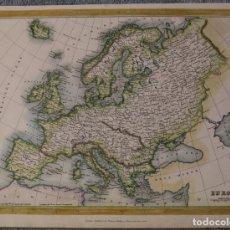 Arte: MAPA DE EUROPA, 1843.KELLY. Lote 109351763
