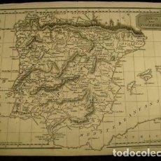 Arte: MAPA DE ESPAÑA Y PORTUGAL, 1815. KELLY. Lote 109352283