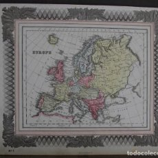 Arte: MAPA DE EUROPA, 1870. MACDONALD. Lote 109353659