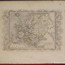 Arte: MAPA DE EUROPA, 1850. MANSELL. Lote 109354115