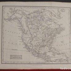 Arte: MAPA DE AMÉRICA DEL NORTE, 1836. OLIVER/BOYD. Lote 109354299