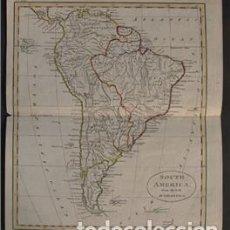 Arte: MAPA DE AMÉRICA DEL SUR, 1820. ANÓNIMO. Lote 109355267