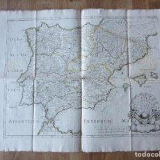 Arte: 1679-MAPA ESPAÑA. HISPANIAE ANTIQUAE. NICOLÁS SANSON. ORIGINAL. GRANDE. Lote 109386779