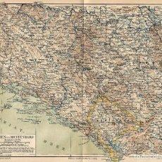 Arte: MAPA ORIGINAL S XIX BOSNIA Y MONTENEGRO BALCANES SERBIA ALBANIA YUGOSLAVIA. Lote 112706916