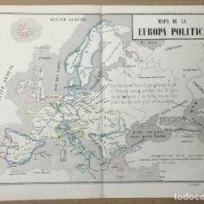 Arte: MAPA DE LA EUROPA POLÍTICA. 29 X 39,5 CM. AÑO 1857. LIT. BACHILLER. VENERAS Nº 7.. Lote 110351563