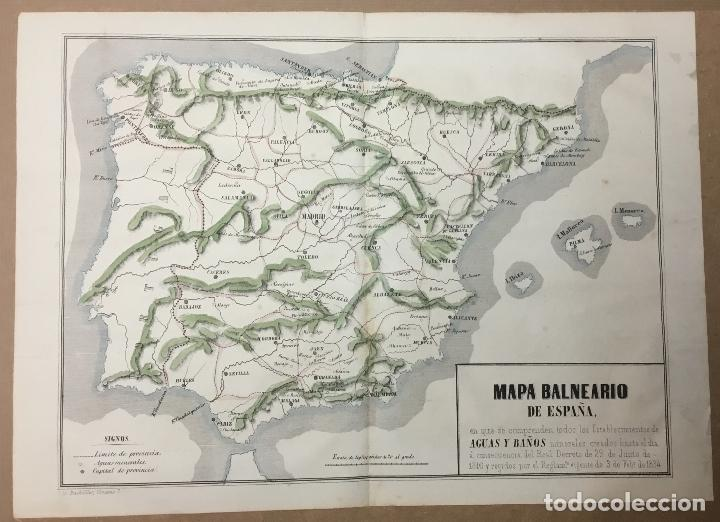 Mapa Balneario De Espana 29 X 39 5 Cm Ano 185 Sold Through