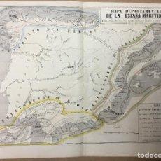Arte: MAPA DEPARTAMENTAL DE LA ESPAÑA MARÍTIMA. 29 X 39,5 CM. AÑO 1857. LIT. BACHILLER. VENERAS Nº 7.. Lote 110355099