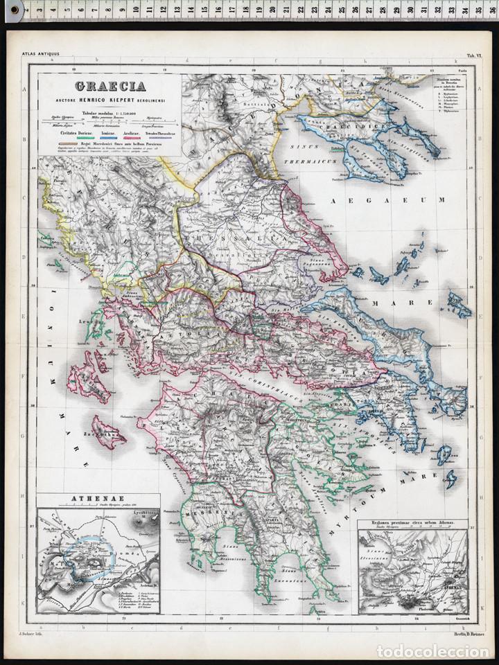 Mapa De Antigua Grecia.Mapa De La Antigua Grecia De Heinrich Kiepert Comprar Cartografia Antigua Hasta S Xix En Todocoleccion 110371423