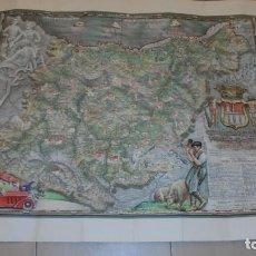 Arte: ANTIGUO MAPA DE GUIPUZCOA DE G.H. OÑATIVIA EDC. 1951 90X72 CM. DIFUMINOGRABADO PROCEDIMIENTO . Lote 111705575