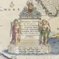 Arte: 1680 - ANTIGUO MAPA DE VENECIA ITALIA DANCKERTS - DOMINI VENETI IN ITALIA IN PARTES ACCURATE DIVISA. Lote 111856471